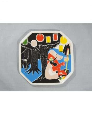 Moomin Collector's plate Who will comfort Toffle 3/6