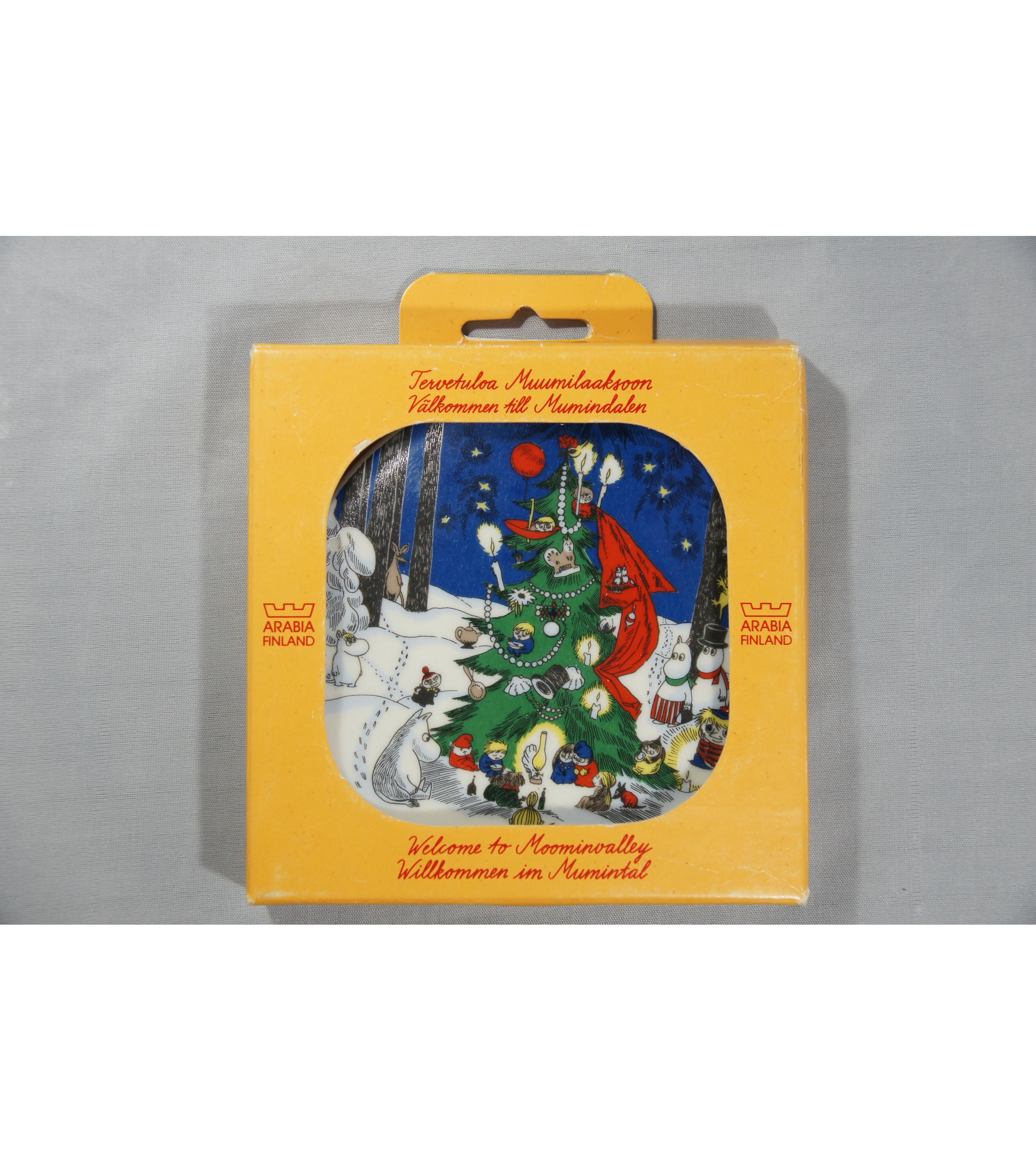 Muumi-seinälautanen Joulukortti