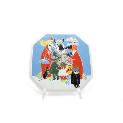 Moomin Collector's plate Who will comfort Toffle 1/6