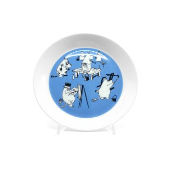Moomin Plate Blue