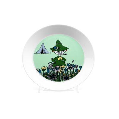 Moomin Plate Snufkin, green